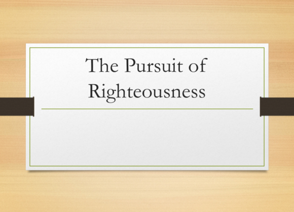 Women In Ministry: Dr. Kimberly Harris – The Pursuit of Righteousness