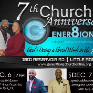 7th Year Anniversary: Apostle Alphonso Montgomery: Unleash and Release My Anointing