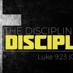 """The Disciplined Disciple: """"Why Can't We Be Friends?"""""""